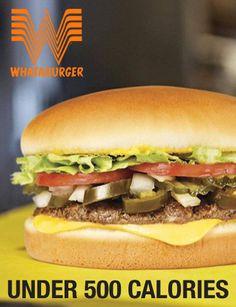 Meals at Whataburger under 500 calories.