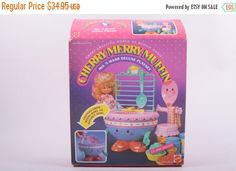 Cherry Merry Muffin Vintage Set Mix N; Wash Deluxe Playset With Box Accessories Play Set Playset Mattel  The Pink Room  161127 by ThePinkRoom