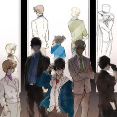 Other Selves Conan Comics, Detektif Conan, Anime Guys, Manga Anime, Anime Art, Super Manga, Kaito Kuroba, Detective Conan Wallpapers, Kaito Kid
