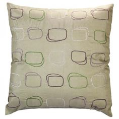 Sage 18x18 Accent Pillow -- Modular pattern great for a groovy event. | cortevents.com