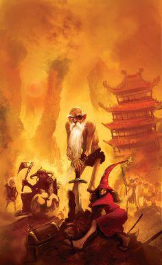 Sir Terry Pratchett 's Discworld on Illustration Served Interesting Times Discworld Books, Discworld Characters, Dnd Characters, Terry Pratchett Discworld, Fanart, Illustration, Cover Art, Fantasy Art, Fiction