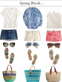 Spring Break Outfits Polyvore Ideas