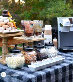 Fall Keurig Coffee Bar Party Ideas from MichaelsMakers By Stephanie Lynn #StarbucksCaffeLatte #MyStarbucksatHome