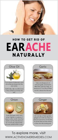 Home Remedies to Get Rid of Earache Naturally #earache #earpain #homeremedies