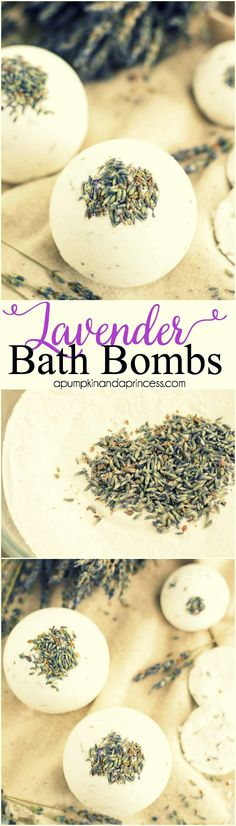 - DIY LAVENDER BATH BOMBS -  Bath bombs are really inexpensive to make and are great handmade gift ideas. Because really, who doesn't love a relaxing bubble bath with an essential oil infused bath bom (Diy Bath Bombs)
