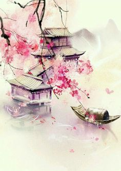 Wallpapers Chinesisches Aquarell… Creative Curtains and Window Coverings One of the easiest and leas Japanese Watercolor, Japanese Painting, Watercolor Paintings, Chinese Painting Flowers, Pastel Watercolor, Watercolor Background, Chinese Artwork, Chinese Drawings, Japanese Artwork