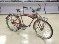 Vintage 1959 60 Schwinn Mark Ii Jaguar Red Tank Bicycle