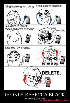 Derp Derpina Internet Meme's Collection: A Meme For Rebecca Black