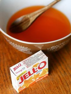 10 Common Products You Can Use To Help Soothe a Sore Throat - JELLO!! Just mix your favorite flavor but instead of chilling it heat it in the microwave for 30 seconds and then add 1 teaspoon of honey. The warm gelatin will coat and soothe your throat and the honey's antimicrobial properties will kill bacteria.