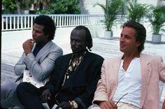 themaninthegreenshirt:  Miles Davis in Miami Vice, 1985