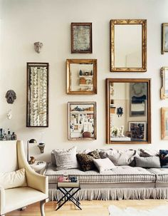 Decoración de paredes con espejos