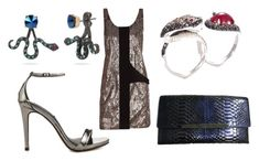 """""""TWO DARK REIGNS by Kendare Blake"""" by heidi-heilig on Polyvore featuring Balenciaga, Steve Madden, Stephen Webster, Christian Louboutin and Betsey Johnson"""