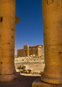 Temple Of Bel In The Ancient Roman city of Palmyra, Syria by Eric Lafforgue, via Flickr