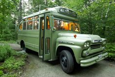 Guest Bedroom Made From A 1959 Chevy Viking Short Bus