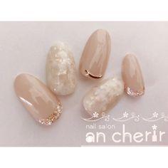All Season / Date / Women's Association / Hand / Hologram-Ancherir Nail Desi. - Hand Nail Design FoR Women Natural Wedding Nails, Simple Wedding Nails, Wedding Nails Design, Japanese Nail Design, Japanese Nails, Minimalist Nails, Diy Nails, Cute Nails, Nail Nail