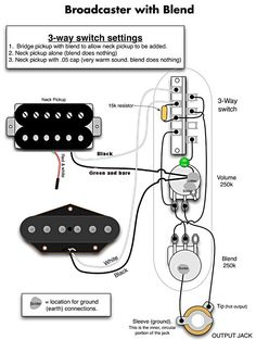 Tele Wiring Diagram, 2 Humbuckers, 4Way Switch