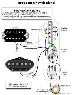 Tele Wiring Diagram, 2 Humbuckers, 4Way Switch
