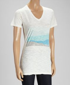 This White Summit Organic V-Neck Tee by United By Blue is perfect! #zulilyfinds