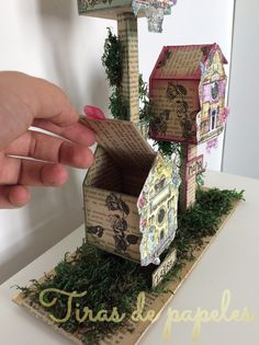 casas de pájaros Medium Art, Shadow Box, Mixed Media Art, Decorative Boxes, Scrapbook, Blog, Home Decor, House Keys, Cartonnage