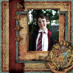 Harry Potter Scrapbook Layouts | Creative Imaginations Harry Potter Sample layout