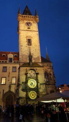 Astronomical Clock at twilight. Prague