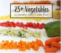 25+ fruits and combinations to transition baby to table food