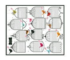 2011 Birdies fabric by cynthiafrenette on Spoonflower - custom fabric