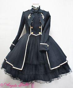 F Yeah Lolita — heckyeahlolitafashion: Angelic Pretty Elegant Army. Cosplay Dress, Cosplay Outfits, Edgy Outfits, Pretty Outfits, Pretty Dresses, Beautiful Outfits, Cool Outfits, Kawaii Fashion, Lolita Fashion