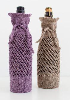 Wine Bottle Gift Bag Knitting Pattern