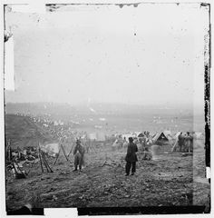 This was taken during the Battle of Nashville, Dec. 15-16, 1864. It shows the outer edge of the Union lines.
