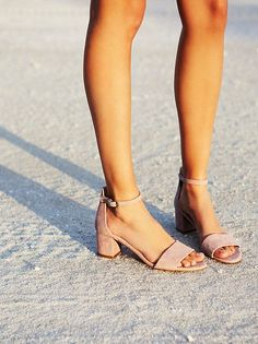 A slight block heel in nude is feminine and classy, dressing up any outfit without the high heel drama!