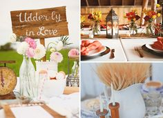 Western wildflowers and harvest center pieces