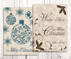 #Printable #Christmas cards by DigitalCS