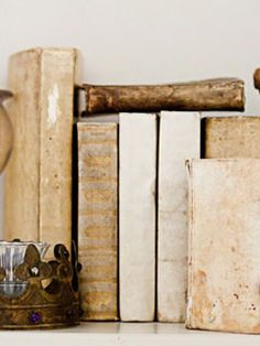 Antique vellum books.  And George « antiques, custom furniture, apothecary, clothes, art, accessories, stationary, interior design in Charlottesville, VA