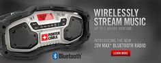 Porter-Cable wireless stream stereo and Bluetooth for T