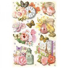 3-D-Stickerbogen-034-Blumen-22-034-NEU-von-Karin-Jittenmeier