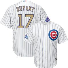 7528b2fbe93 Kris Bryant Chicago Cubs 2017 Gold Program Youth Cool Base Jersey   ChicagoCubs  Cubs  FlyTheW  MLB  ThatsCub