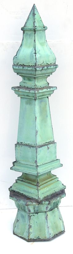 19th century copper roof finial