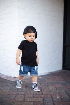 raxtin boy distressed denim shorts raxtin boys vans skater style hip kids - June 22 2019 at Cute Baby Boy Outfits, Boys Summer Outfits, Little Boy Outfits, Toddler Boy Outfits, Little Boy Style, Summer Boy, Baby Style, Kids Fashion Blog, Toddler Boy Fashion