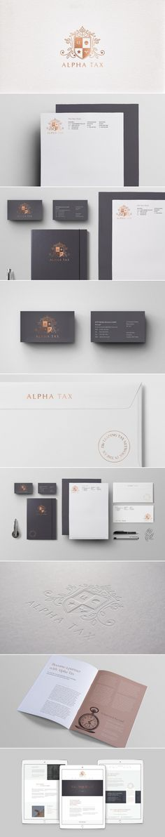 A new brand identity for Alpha Tax — Dawn Creative Visual Identity, Brand Identity, Creative Portfolio, Dawn, Layout, Corporate Design, Page Layout, Branding
