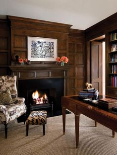 Wood panelling a timeless classic that never goes out of style.     Boxwood Home & Interiors