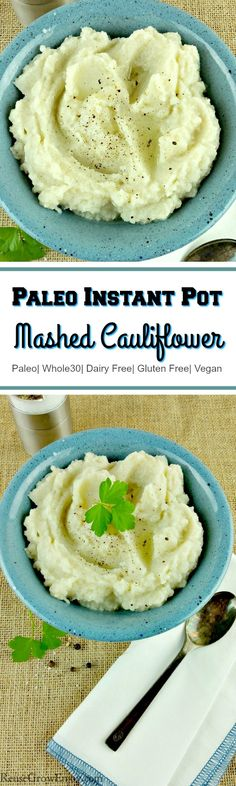 This is a MUST try recipe for anyone eating low carb, low fat or doing the Paleo and Whole 30 diets. It is a recipe for Paleo Instant Pot Mashed Cauliflower!