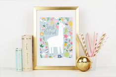 Spirit Animal Print Llama Decor, Llama Print, Spirit Animal, Wall Art, Colors, Paper, Frame, Holiday, Prints
