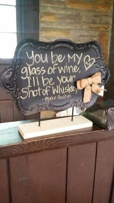 Adorable wedding bar sign at Happy Days Lodge