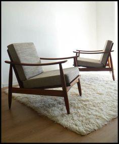 Mid-century, retro, vintage NZ made Danske Mobler chairs