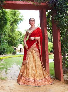 Beige Net Wedding Lehenga Choli 82483