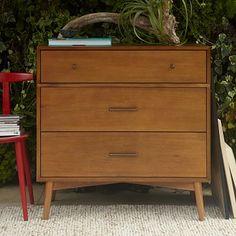 Mid-Century 3-Drawer Dresser - Acorn #westelm  $599.00