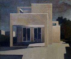 L.A. Modernist, 2008. Oil on canvas 60x50cm