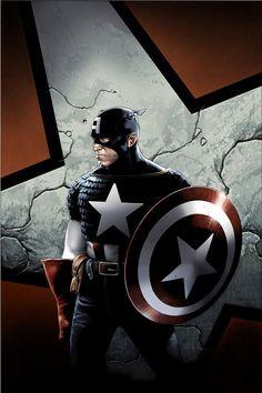 Captain America by Travis Charest   More Travis Charest  @ http://groups.yahoo.com/group/ComicsStrips & http://groups.google.com/group/ComicsStrips   http://travischarestspacegirl.blogspot.com  http://www.travischarestgallery.com