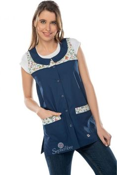 Cute Scrubs, Blouse, Apron, Couture, Sewing, Jackets, Clothes, Fashion, Teacher Apron